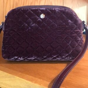 Nine West velvet crossbody